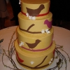 Modern Bird Wedding Cake