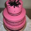 Pink and Black Wedding Cake