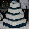 Peacock Blue Cake