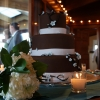 Beautiful Chocolate Brown and Delicate Blue Wedding Cake