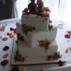 'Favorite Friends' Floral Square Cake