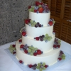 Frosted Fruit Wedding Cake