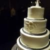 Classic Monogram Cake with Bobble Head Topper