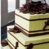 Green and Brown Wedding Cake
