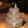 Classic White Round Fondant Cake