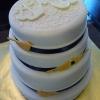 White Chocolate Monogrammed Wedding Cake
