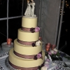 Traditional Cake with Lenox Cinderella Topper