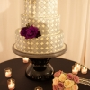Silver Dotted Wedding Cake