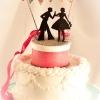 Cake Topper Friday: Silhouette Wedding Cake Topper