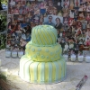 Yellow and Green Wedding Cake