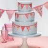 Bunting Wedding Cake