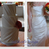 White Wedding Cake with Ruching to Match the Bride's Dress