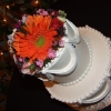 Cake Topper Friday: Traditional White Cake with Flower Topper