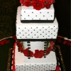 Grand Red and Black Wedding Cake