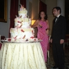 Massive Floral Italian Wedding Cake