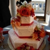 Geometric Shapes with Roses Cake