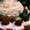Big Strawberry Cupcake Cake