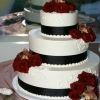 Dark Red Roses Cake