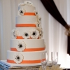 Orange and White 'Double Happiness' Cake with Anemones