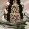 Black and White Scroll Work Wedding Cake