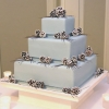 Silver Pinecone Wedding Cake