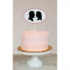 Cake Topper Friday:  Simply Silhouette Wedding