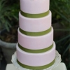 Pink and Sage Green Graduated Layer Wedding Cake