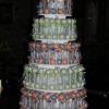 Blue and Orange Wedding Cake Pop Mania