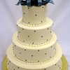 Navy Blue Bow Cake