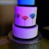 Stylized Minimalist 'Something Blue' Wedding Cake