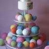 Rainbow Cake Ball Wedding Cake