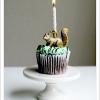 Cake Topper Friday:  DIY Gilded Animal Candle Cake Topper