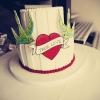 Hand Painted Tattoo Wedding Cake