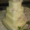 Ivory Orchid Cutaway Wedding Cake