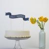 Paper Banner Cake Topper