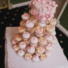 Pink Flower Cutting Cake and Cupcake Tower