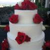 Red and White Roses Cake
