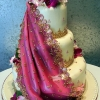 Sari-Inspired Wedding Cake