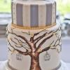 Hand-Painted Love Birds Cake
