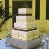 Art Deco Square Wedding Cake