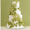 Green Leaves Wedding Cake