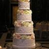 White Wedding Cake with Fern Detail