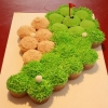 One for the Guys:  Golf Green Cupcake Cluster