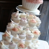 Cupcake Tower with Oversized Cutting Cupcake