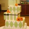 Sage and White Square Box Wedding Cake