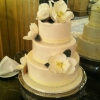 Southern All the Way:  Magnolia and Bling Wedding Cake