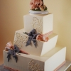 Whimsical and Wonky Rectangular Wedding Cake