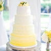 Yellow Ombre Buttercream Wedding Cake