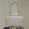 Cake Topper Friday:  Sweet Silhouette Cake Topper with Floral Arch
