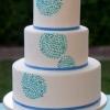 Shades of Blue Wedding Cake